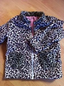 Kinderjacke Leopardenstoff
