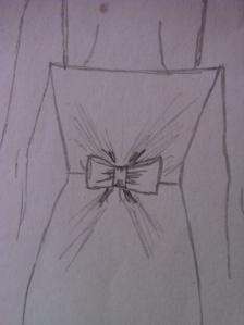 Detailbild Bow Ballkleid