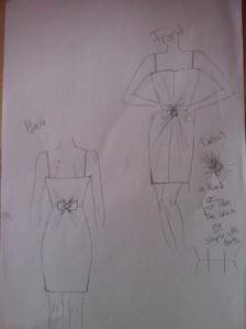 Entwurf Kleid Unternehmerball 2011