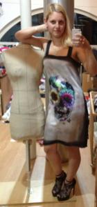 Skull-Print Kleid