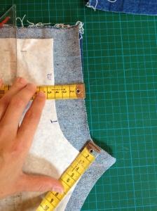 zuschneiden Hose mit Reissverschluss