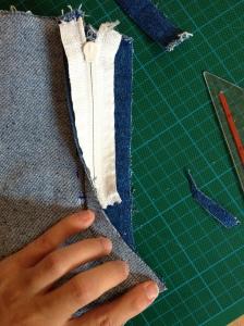 richtig Nahtzugaben schneiden Jeans