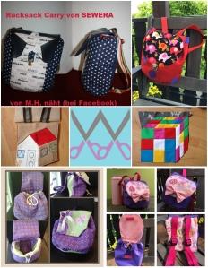 Designbeispiele Collage Rucksack Carry